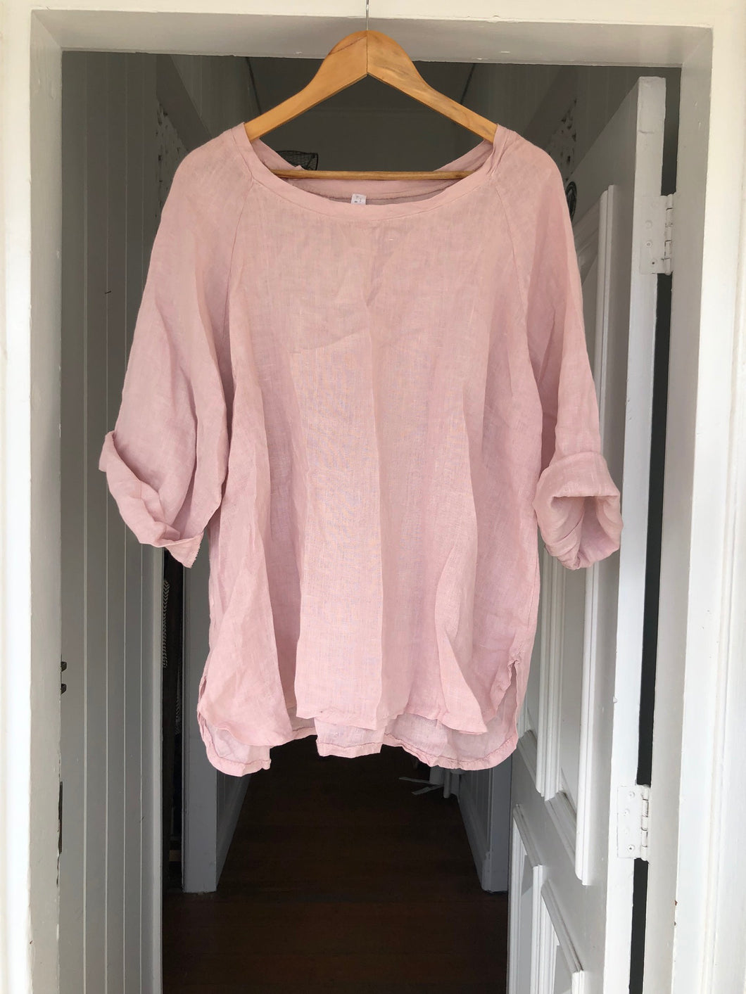 Giorgia Linen Top - Dusty Pink-DiModa-Bristle by Melissa Simmonds