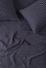 Load image into Gallery viewer, King Fitted Sheet - French Navy Grid