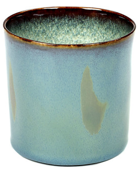Stoneware Cylindrical Goblet High - Light Blue
