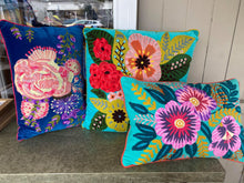 Load image into Gallery viewer, Bloom Cushion - Blue Multi-Ruby Star Traders-Bristle by Melissa Simmonds