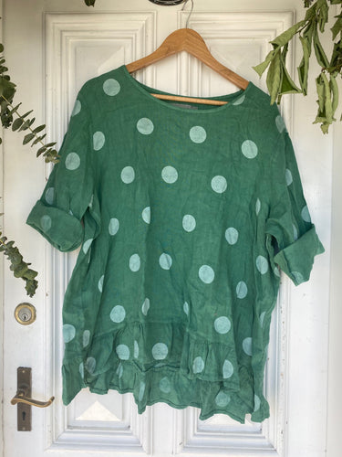 Polka Top with Frill - Emerald-DiModa-Bristle by Melissa Simmonds