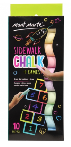 Kids Colour Sidewalk Chalk-Mont Marte-Bristle by Melissa Simmonds