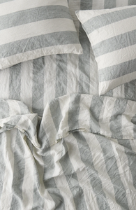 Fitted Sheet - Fog-Society of Wanderers-Bristle by Melissa Simmonds