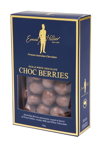 Milk & White Choc Berries 240g-Ernest Hillier-Bristle by Melissa Simmonds