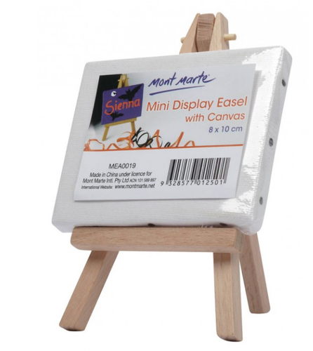 Mini Display Easel with Canvas 8x10cm-Mont Marte-Bristle by Melissa Simmonds