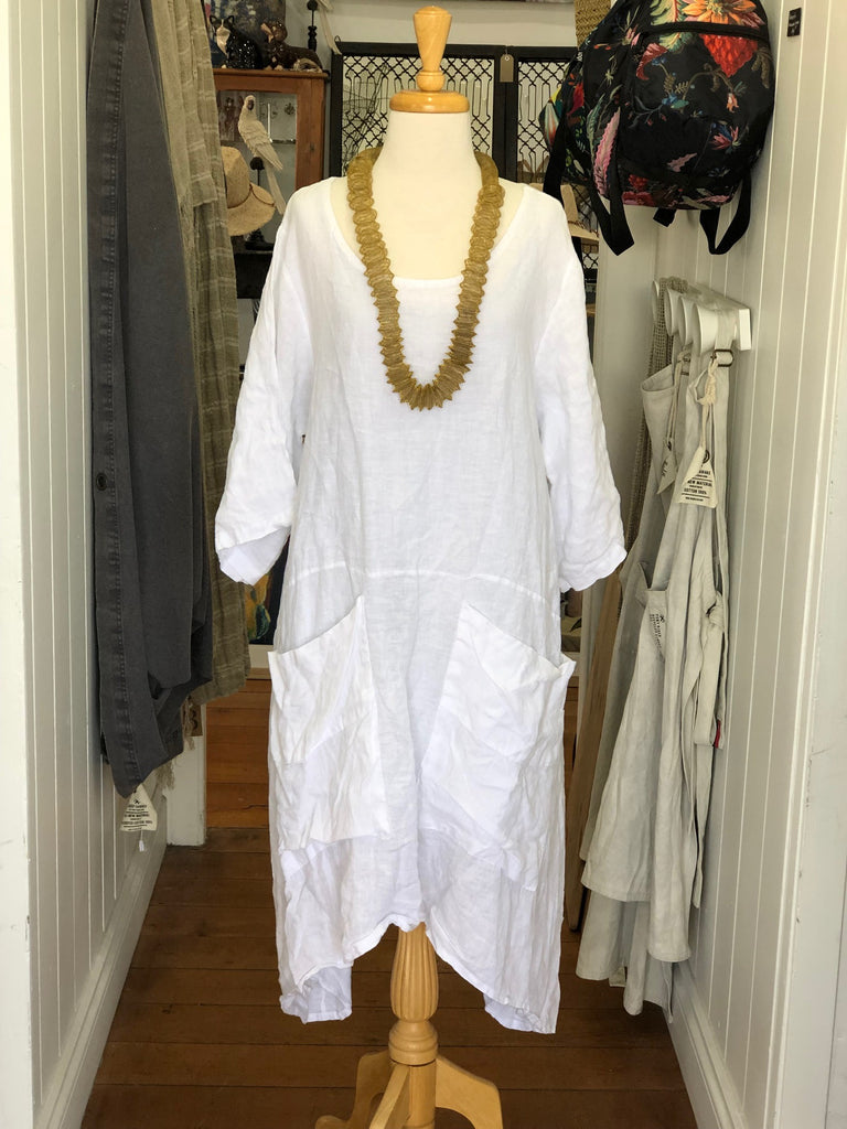 Aurora Tie Back Linen Dress