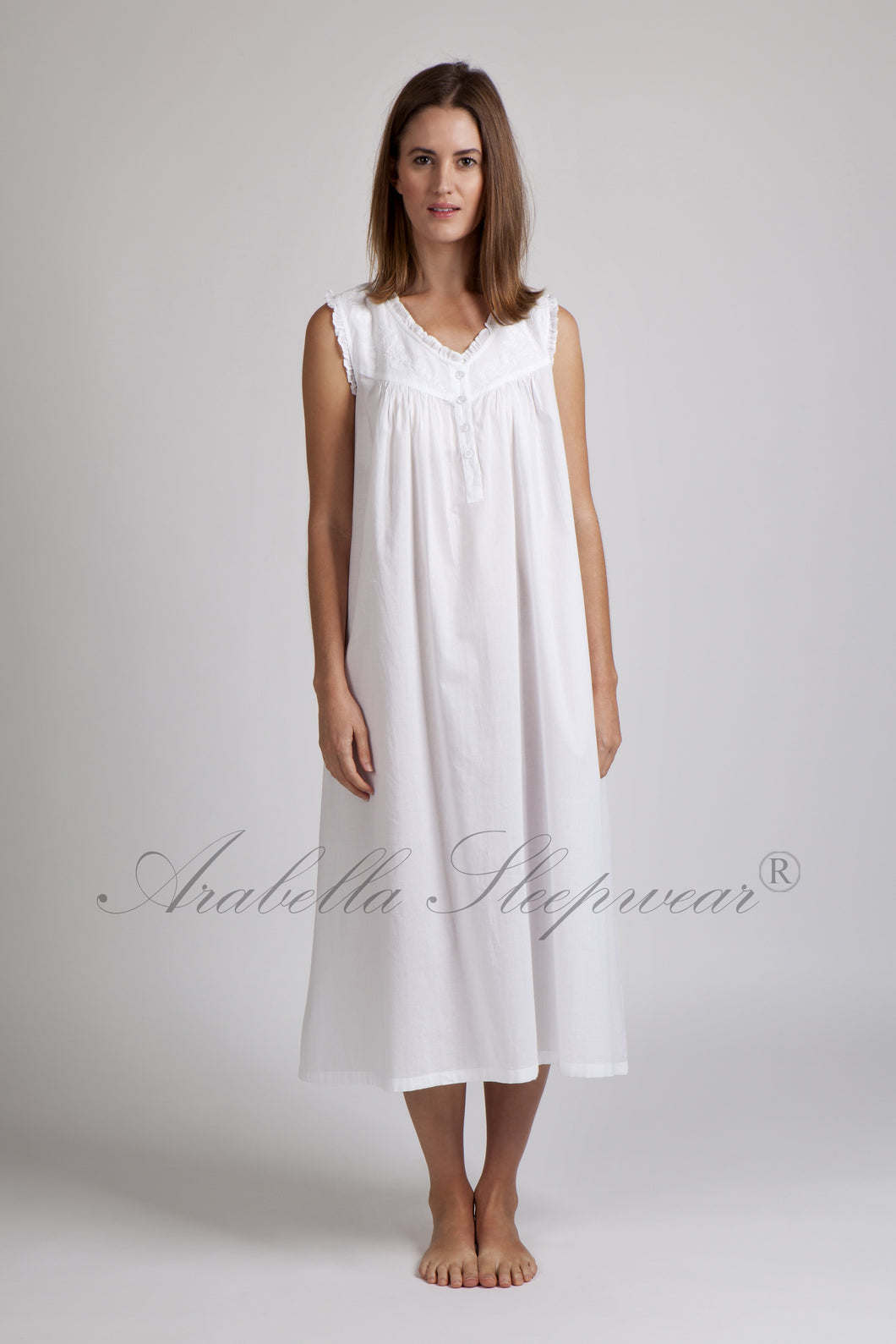 Arabella Nightie White with Lace