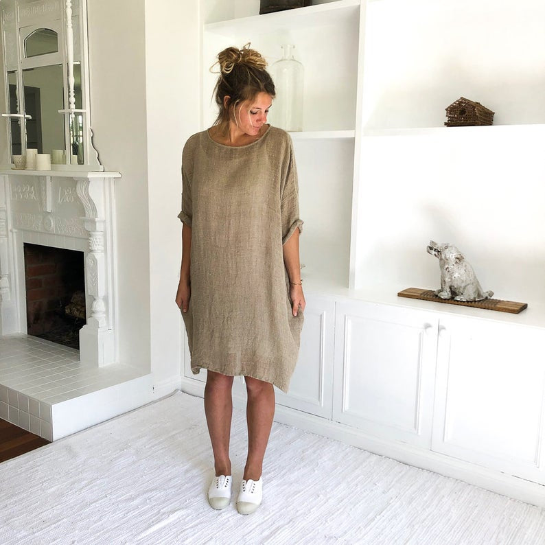 Avalon Linen Dress Natural