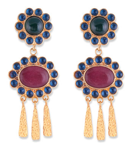 Amelia Earrings-Bianc-Bristle by Melissa Simmonds