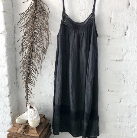 Alice Linen Slip Black
