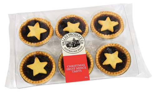 VPC Mince Tarts 6 pack 360g-Valley Produce Co-Bristle by Melissa Simmonds