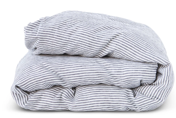 King Duvet Cover - Charcoal Stripe