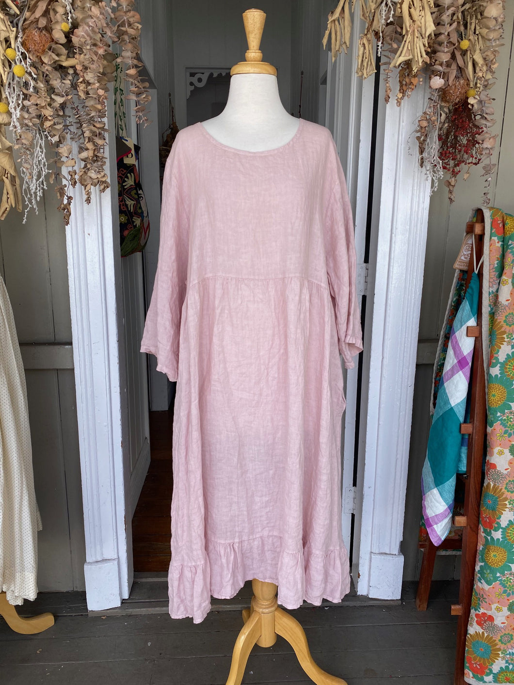 Babylon Linen Dress - Dusty Pink-Clothing-DiModa-Bristle by Melissa Simmonds