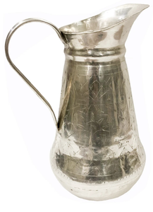 Brass Wine Decanter with Antique Silver Finish