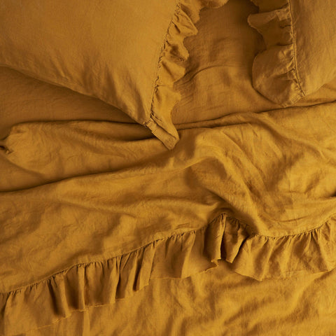 King Single Flat Sheet (Turmeric)