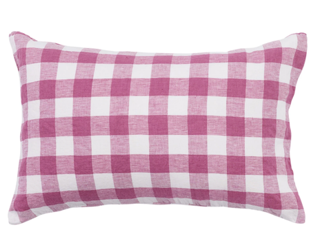 Standard Pillowcase Set - Fuchsia Gingham