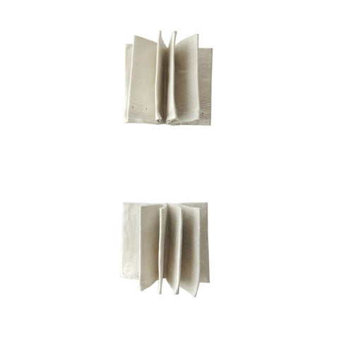 Pleat Square Stud Earrings
