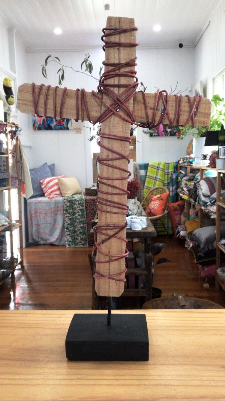 Driftwood Standing Cross-Home Decor-Bisque-Bristle by Melissa Simmonds