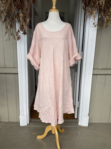Alessa Linen Dress - Dusty Pink