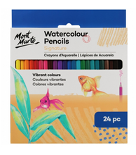 Load image into Gallery viewer, Signature Watercolour Pencils 24pce-Mont Marte-Bristle by Melissa Simmonds
