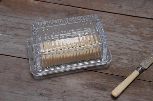 Glass Butter Dish-Heaven In Earth-Bristle by Melissa Simmonds