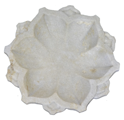Carved Marble Flower Bowl-Bisque-Bristle by Melissa Simmonds