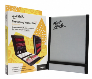 Sketching Wallet Set 14pc-Mont Marte-Bristle by Melissa Simmonds