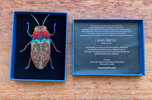 Load image into Gallery viewer, Trovelore Big Jewel Beetle Brooch