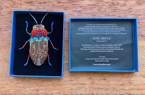 Trovelore Big Jewel Beetle Brooch