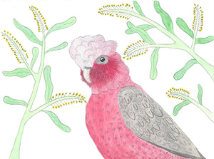 Galah Tea Towel - 100% linen-Kitchen-Quirky Critters-Bristle by Melissa Simmonds