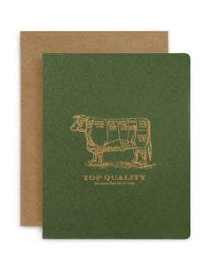 Top Quality Rump Card-Bespoke Letterpress-Bristle by Melissa Simmonds