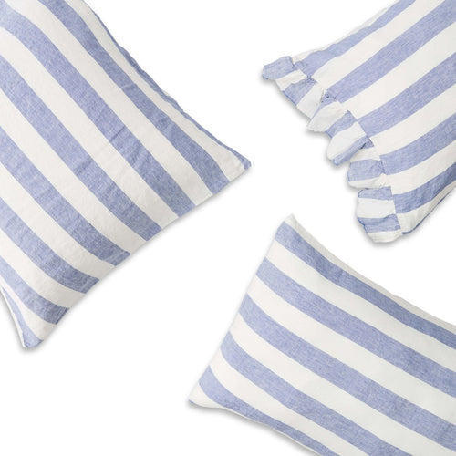 Chambray Stripe Pillowcase Set-Society of Wanderers-Bristle by Melissa Simmonds