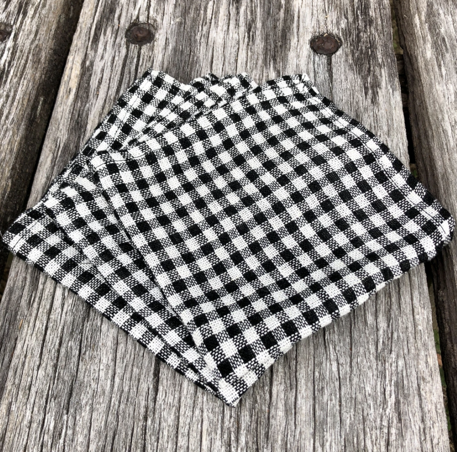 Face Cloth - Black & White Gingham (Set of Three)-Meg by Design-Bristle by Melissa Simmonds