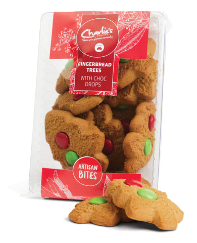 Charlies Xmas Gingerbread Xmas Tree Biscuits
