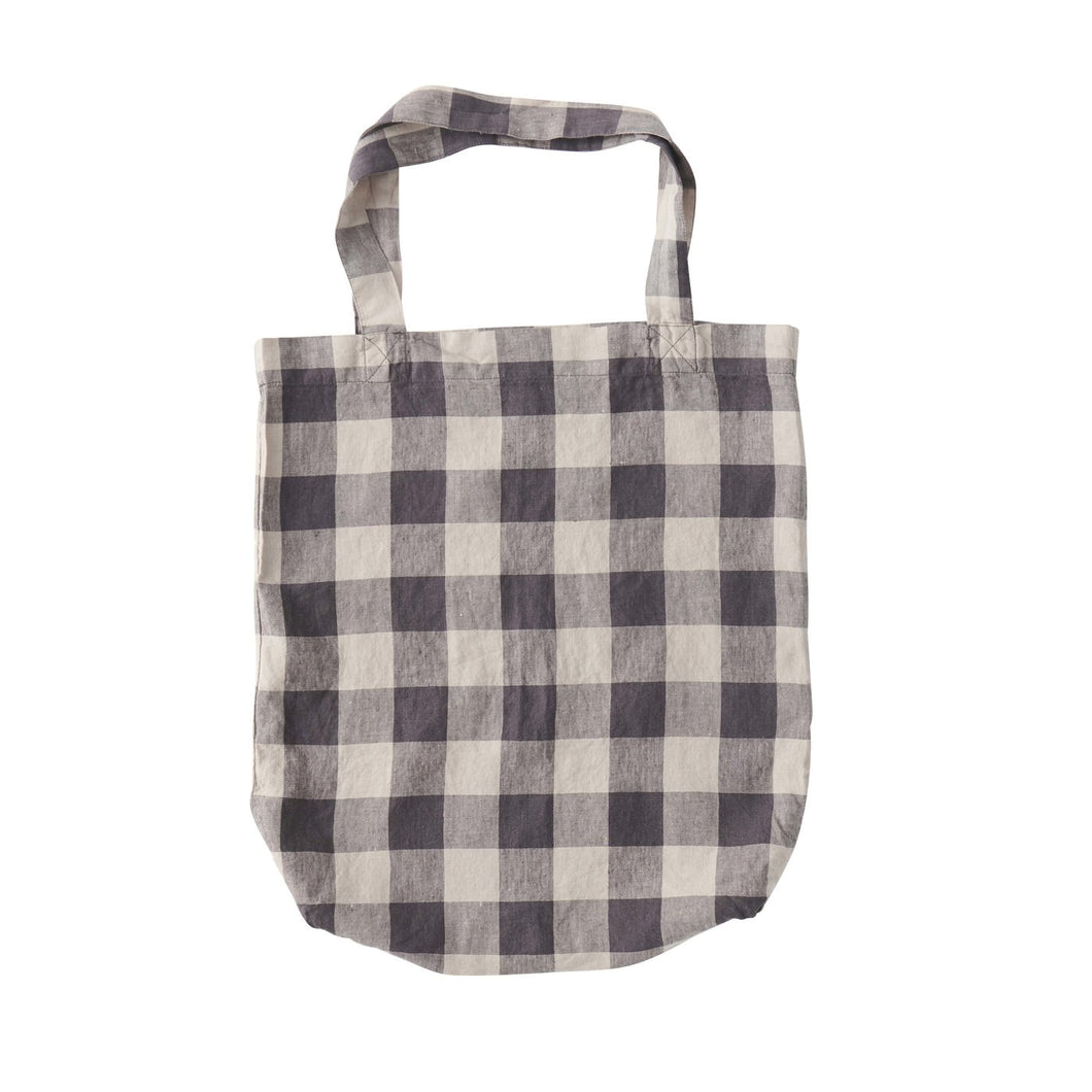 Licorice Gingham Check Tote