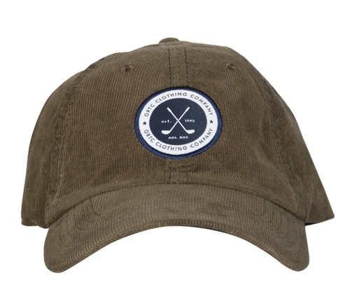 Ortc Man Corduroy Cap - Olive-Ortc Man-Bristle by Melissa Simmonds