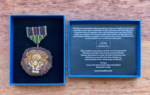 Trovelore Medal Lion Brooch