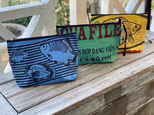 Fish Cosmetic Bags-The Elephant Emporium-Bristle by Melissa Simmonds