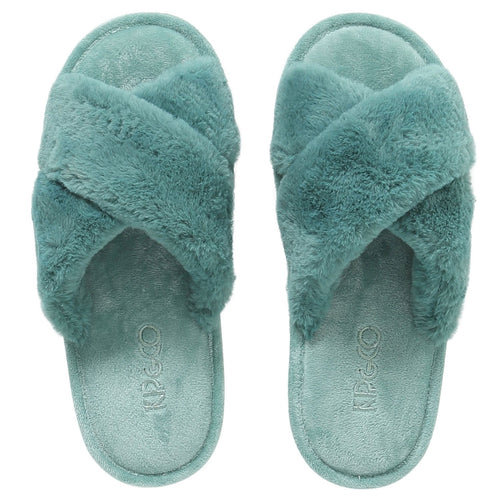 JADE GREEN ADULT SLIPPERS-Kip & Co-Bristle by Melissa Simmonds