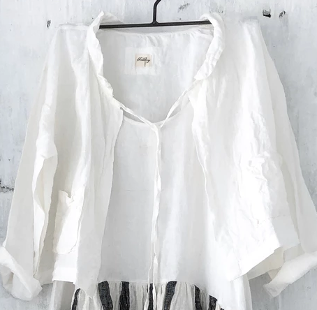 Billie White Linen Jacket