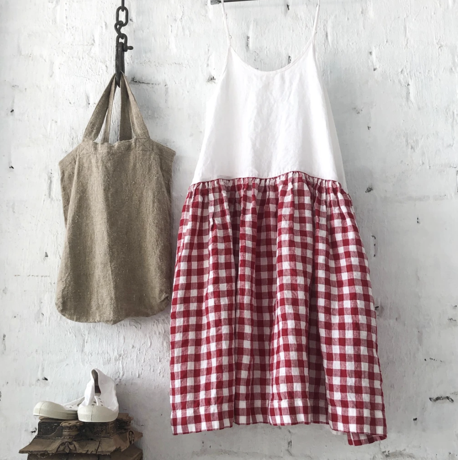 High Tea Slip Dress - Red & White Gingham-Clothing-Meg by Design-Bristle by Melissa Simmonds