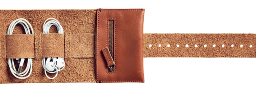 Cord Roll in Tan Leather-Afternoons with Albert-Bristle by Melissa Simmonds