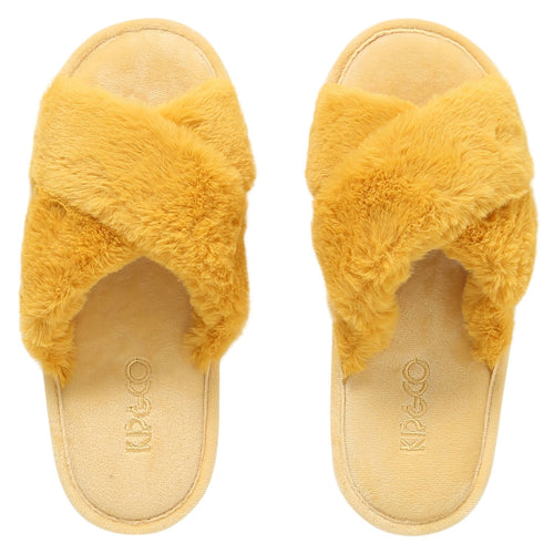 SUNSHINE YELLOW ADULT SLIPPERS-Kip & Co-Bristle by Melissa Simmonds