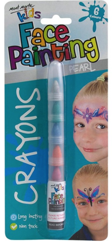 Kids Face Painting Crayons - Pearl