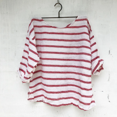 Jane Top Red Nautical-Meg by Design-Bristle by Melissa Simmonds