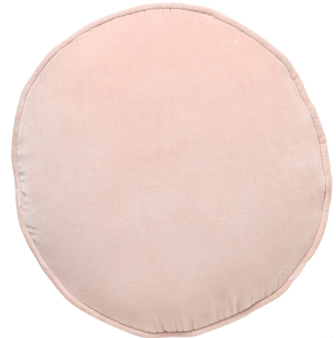 Spanish Villa Pink Velvet Pea Cushion