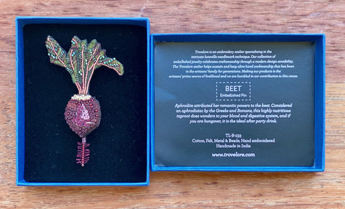 Trovelore Beetroot Brooch