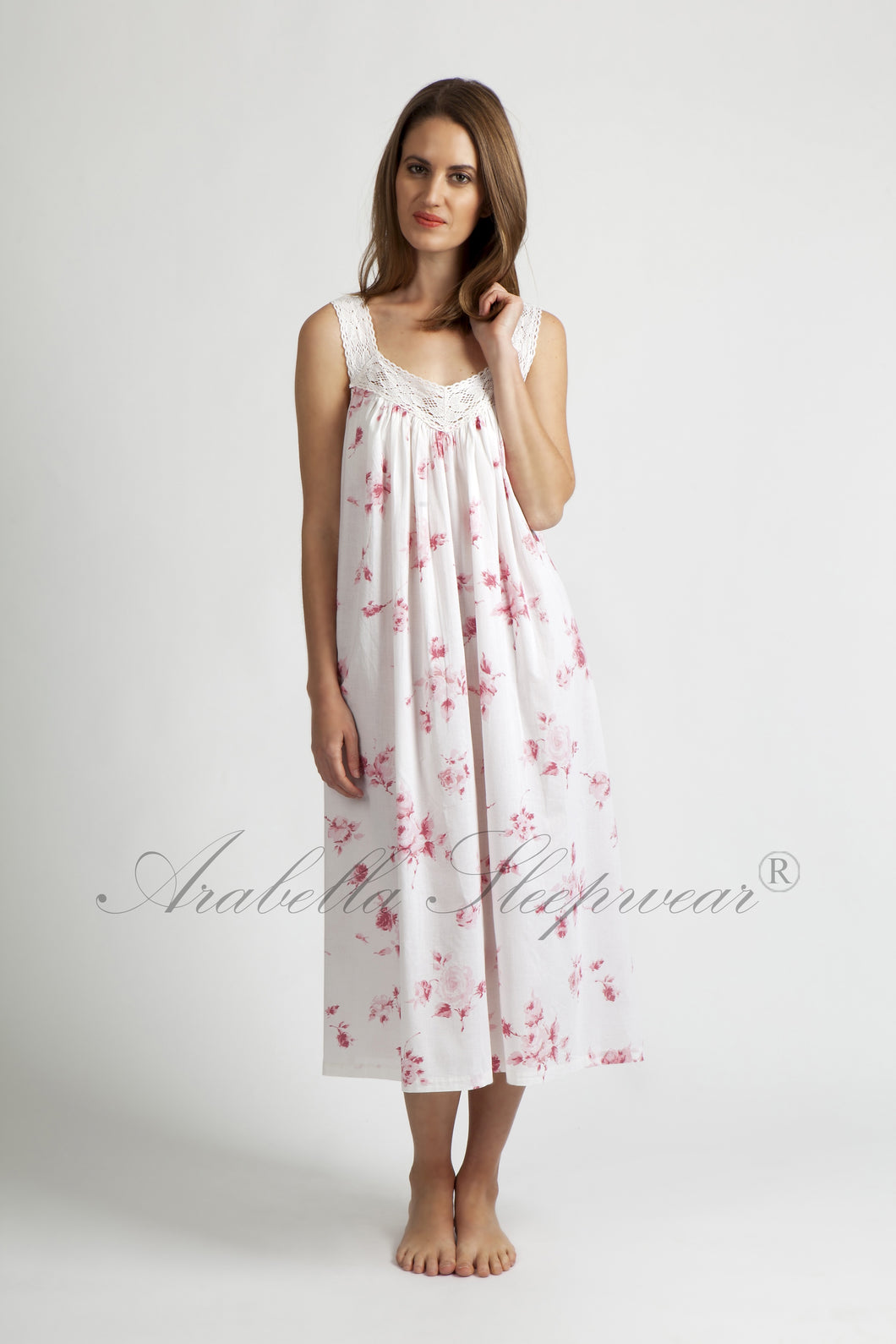 Arabella Nightie Pink Floral