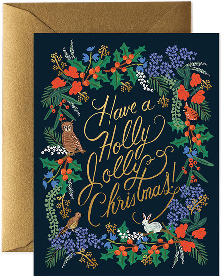 Rifle Paper Co Single Card - Holly Jolly