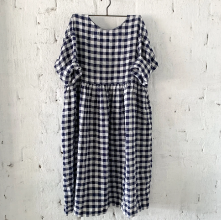 Sarah Navy and White Gingham